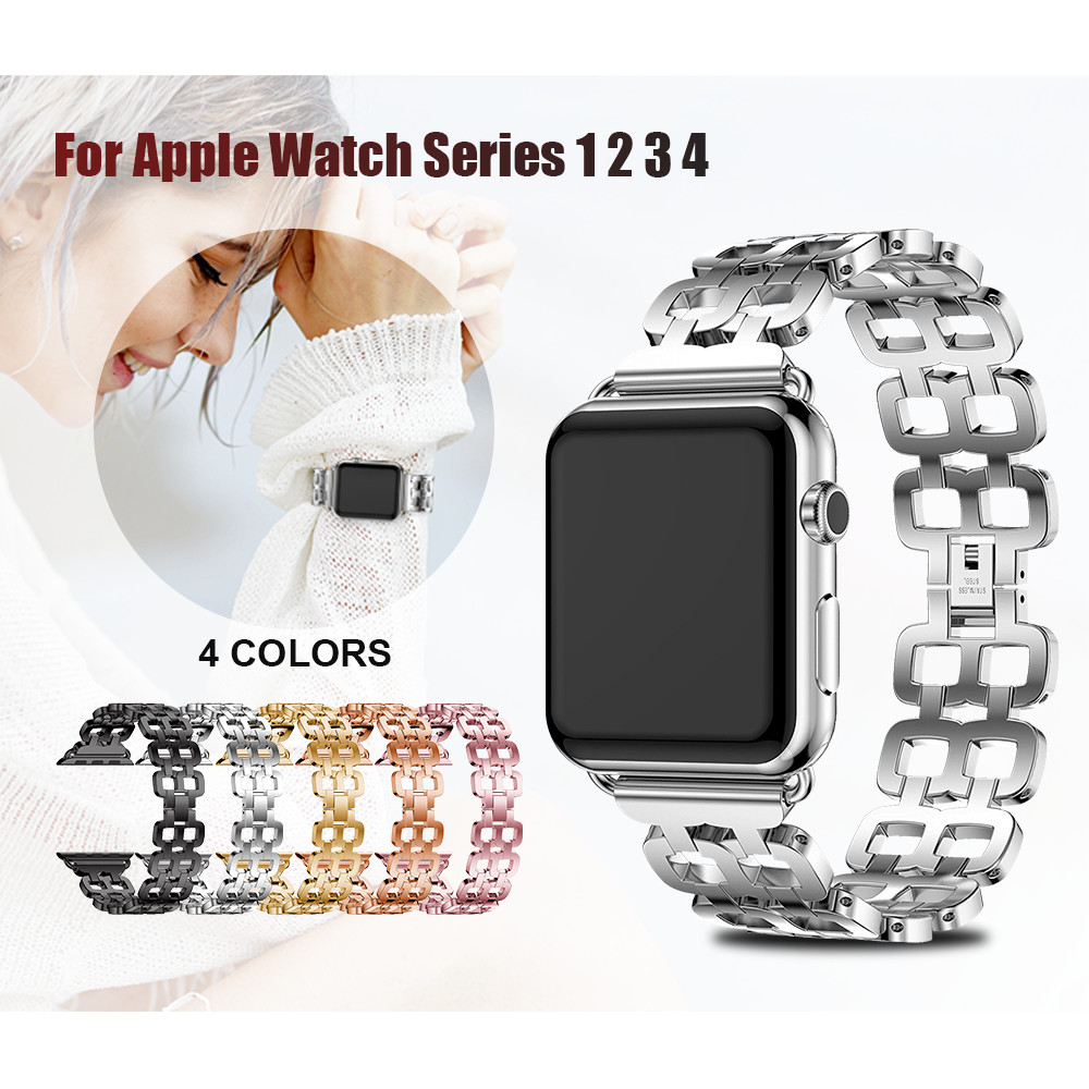 Correa de reloj de acero inoxidable para Apple Watch Band 42mm 44mm Correa de metal para Apple Watch 38mm 40mm Series 4 3 2 1 Pulsera de reloj