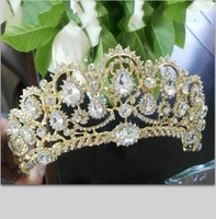 Hot European Designs Vintage Peacock Crystal Tiara Bridal Hair Accessories Wedding Quinceanera Rhinestone Tiaras Crowns Pageant