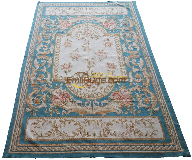 Handmade Carpets For Living Room Pattern Aubusson Carpet Natural Sheep Wool Square RugHandmade Carpets For Living Room Pattern Aubusson Carpet Natural Sheep Wool Square Rug