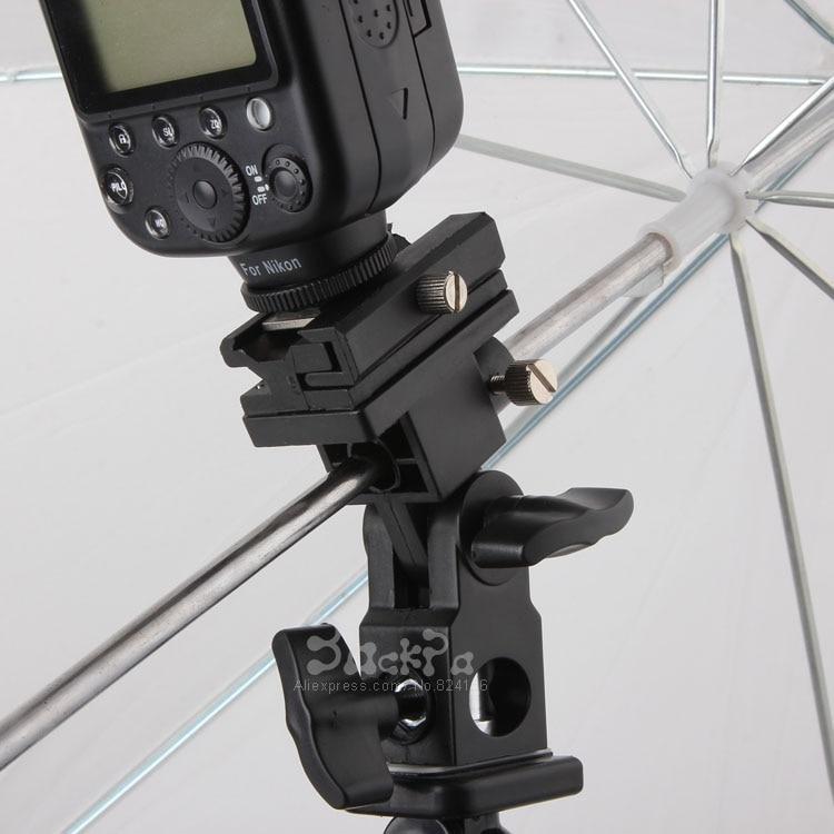 Flash Light Stand Support pour Caméra Flash Chaussure Adaptateur Pivotant Lumière Parapluie Titulaire yn-560 ii sb800 sb900 580ex Photo Studio