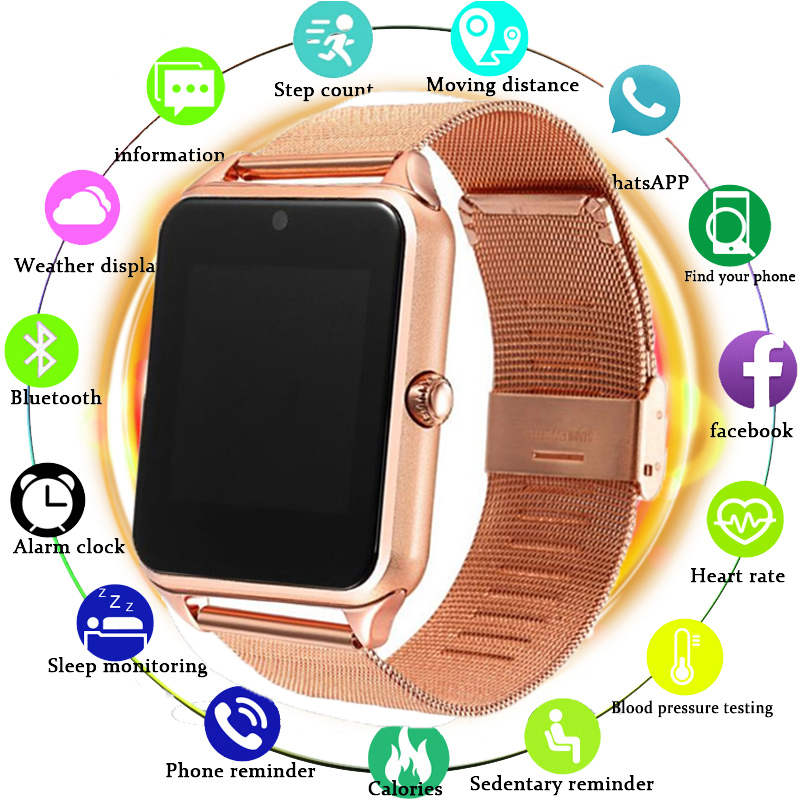 2019 Smart Watch GT08 Plus Metal Strap Z60 Bluetooth Wrist Smartwatch Support Sim TF Card Android&IOS Pk Q9