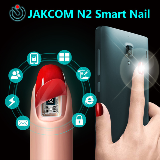 JAKCOM N2 Smart Nail Simulat IC card Connect Phone Flash LED Artificial Nail Tip Natural Color Full Cover False Nail Tips
