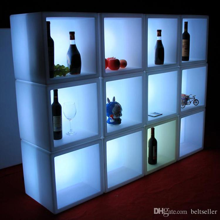New Led Furniture Waterproof Led Display Case 40cmx40cmx40cm Colorful Changed Rechargeable Cabinet Bar Ktv Disco Party Decoratio Selected Material Furniture