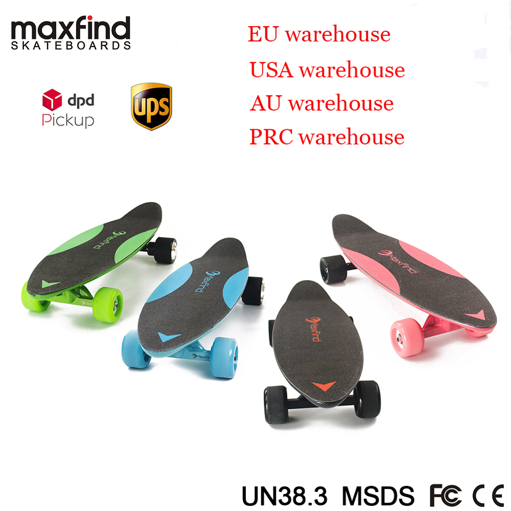 Image 2 - Maxfind electric skateboard four colors hub motor 3.7kg Lightweight 20KM/h 4 Wheel  Scooter Plate Skate Board-in Skate Board from Sports & Entertainment