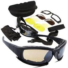 Тактическая D a i s y. X7 Очки Военное Дело очки армии Солнцезащитные очки для женщин с 4 объектива Оригинальная коробка Для мужчин Стрельба очки Gafas