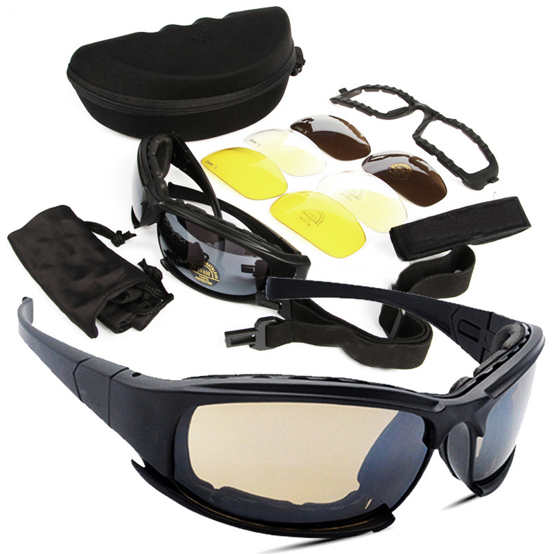 Tattico D a i s y. X7 Occhiali Militare Occhiali Esercito Occhiali Da Sole Con 4 Lenti Scatola Originale Uomini Tiro Occhiali Gafas
