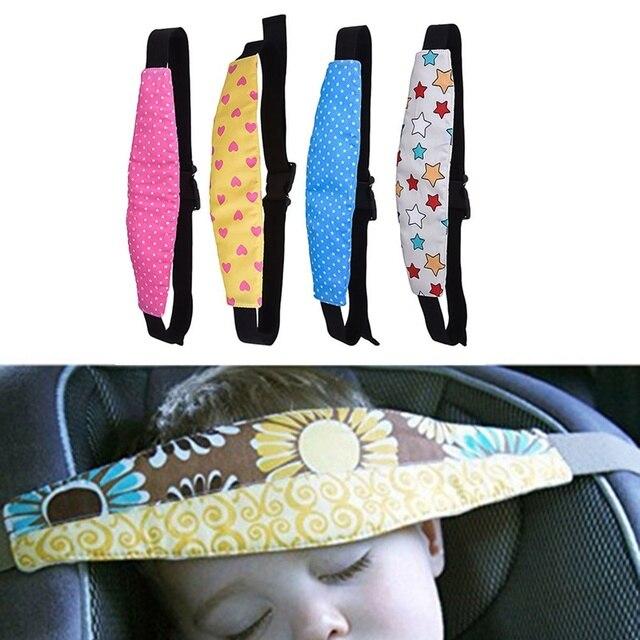 Bebé asiento de seguridad de automóvil de dormir de ayuda de apoyo para niños niño de Doze de la cabeza fija cinta de dormir ayuda correa de la cabeza