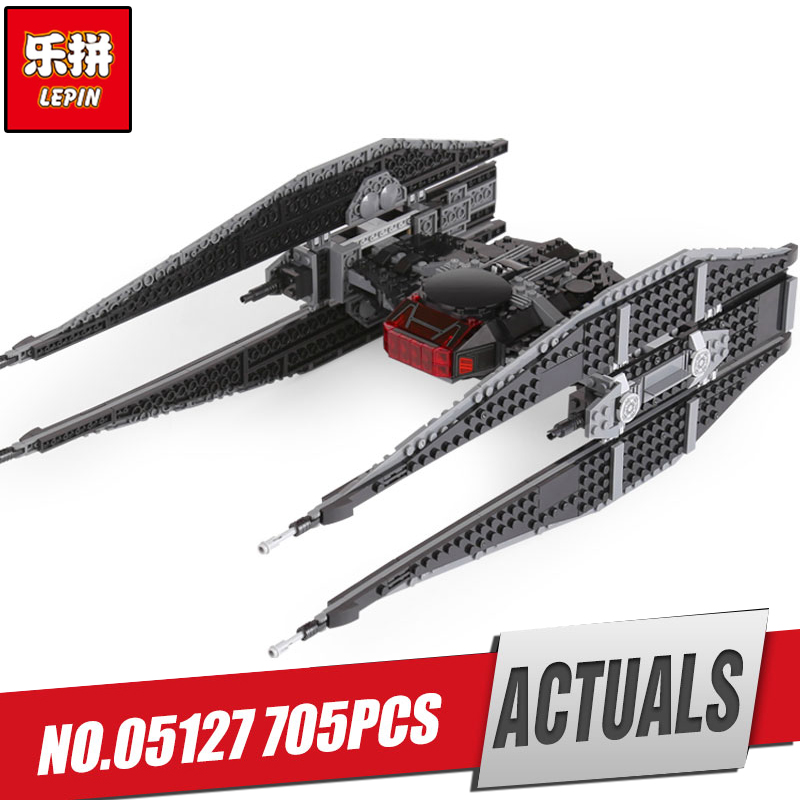 Lepin 05127 705Pcs Star Plan Series The Tie Model Fighter Set 75179 Building Blocks Bricks Educational Funny  Toys As Gifts lepin 16007 2141pcs monster fighter the haunted house model set building kits model compatible with 10228 educational toys gifts