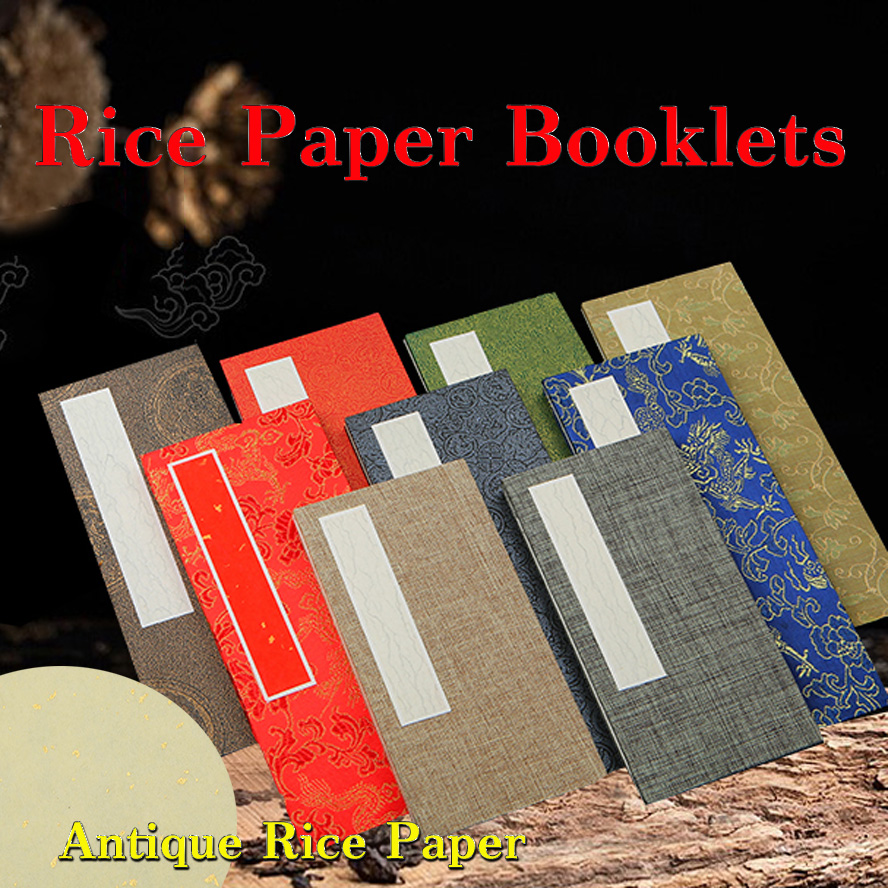 Antique Archaistic Chinese Rice Paper Album for Painting Calligraphy folded Page Book Blinding Notebook Painting booklets archaistic rice paper chinese album of painting calligraphy fiberflax page book blinding notebook painting booklets