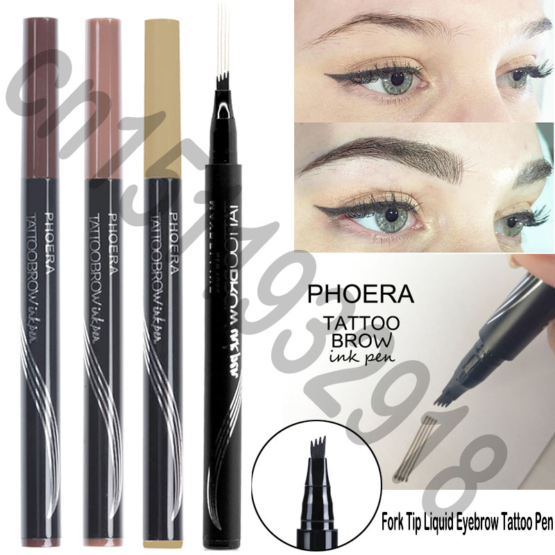 High Quality Black Brown Eyebrow Pencil Long Lasting Fine Sketch Eyebrow Enchancer Pen Henna Eye Brow Tattoo Tint Pen Cosmetic Elegant In Style Beauty & Health