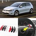 2pcs Alloy Add-On Steering Wheel DSG Paddle Shifters Extension For Volkswagen Golf