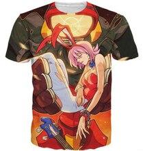 Fashion summer season model tshirt FLCL 3d T-Shirt Women Men Hipster t shirt Cartoon tops harajuku Outfits tees camisetas S-5XL R2356