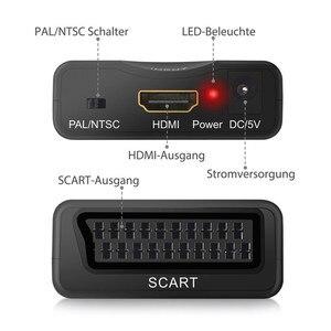 Image 3 - Esynic עבור HDMI כדי SCART ממיר מתאם מרוכבים וידאו HD סטריאו מתאם ממיר HDMI וידאו אודיו יוקרתי אות מתאם