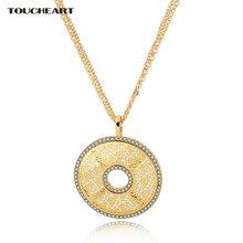 Toucheart свадебные ожерелья и подвески с полыми цветами кристаллами