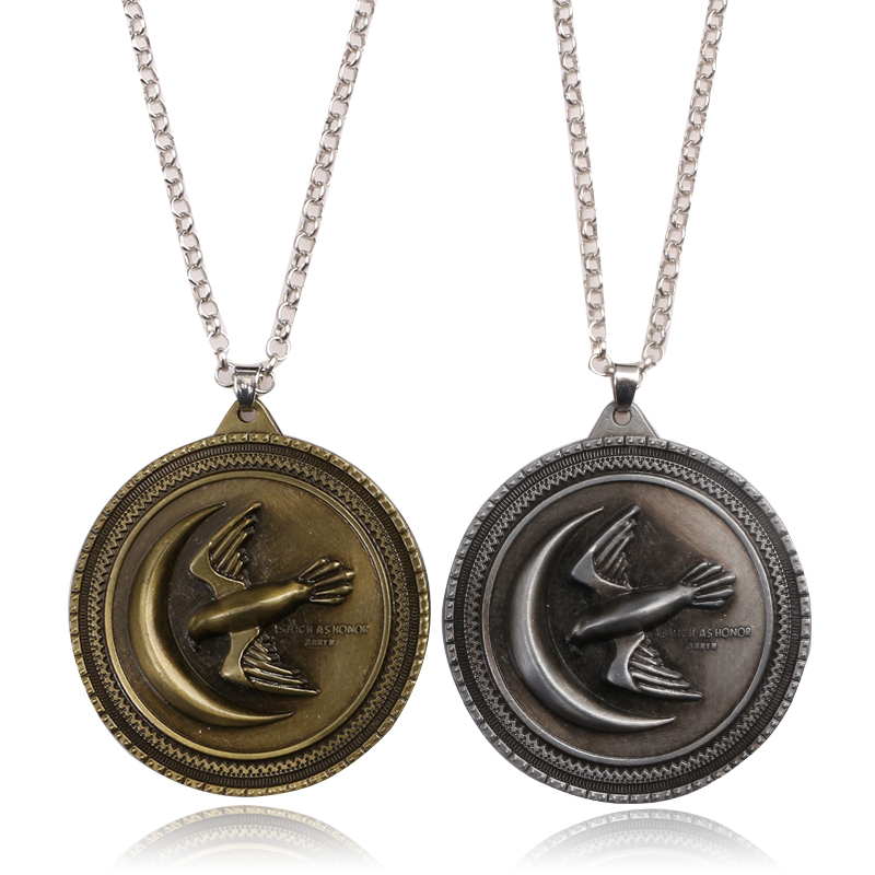 SC Movie Game of Thrones House Arryn Necklace A Song Of Ice And Fire New Eagle Logo Men Women Necklaces Pendant Jewelry