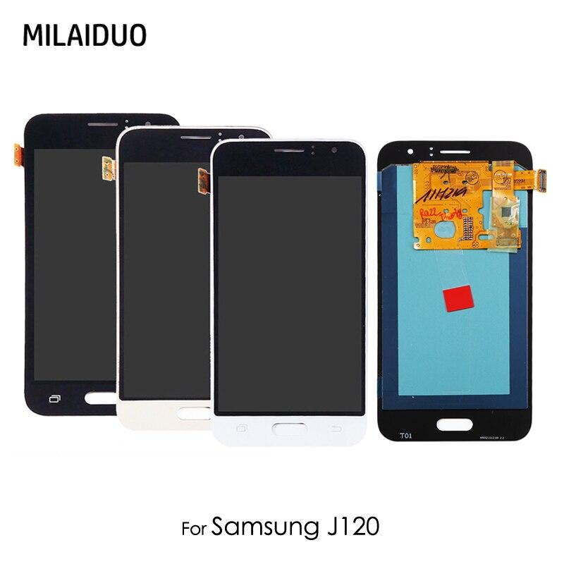 Écran LCD Super AMOLED pour Samsung Galaxy J1 2016 J120 J120F J120M J120H J120G OLED assemblée de numériseur d'écran tactile