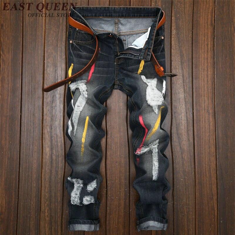 Ripped jeans for men autumn jeans for men cargo pants men KK1647 H