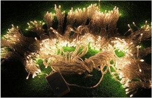 Image 5 - 10X1 M 448 Ngoài Trời Màn Dây Đèn Chúc Mừng Giáng Sinh Đảng Tiên Cưới LED Màn Ánh Sáng 220 V 110 V US AU EU Cắm