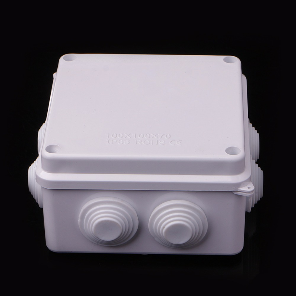 Waterproof Plastic Enclosure Case Power Junction Box IP65 100mm x 100mm x 70mm in Connectors from Lights Lighting