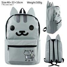 Pusheen Cat Backpack Cute Teenagers Girls Cat Backyard School Bags Daily Backpack Neko Atsume Cartoon School