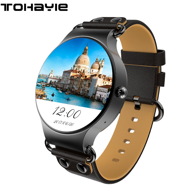ToHayie KW98 Smart Watch Android 5.1 8GB/512MB Wifi GPS Bluetooth Smartwatch Heart Rate Monitor MTK6580 Android Watch For men