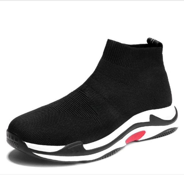 06a9003df51a Men s Socks Shoes Hot Sale New Arrival Spring Slip On Cloth Shoes Brand  Model Knit Sneakers High Top Flying Socks Shoes