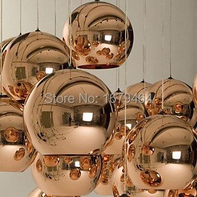LED 5 w lampes suspendues Mini Globe, 1 lumière, galvanoplastie de verre métallique minimaliste