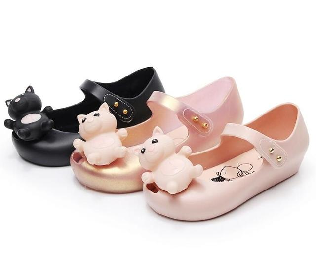 2019 Cute Cartoon Jelly Shoes Girls Sandals Infants Pig Peggy Children Outdoor Girl Sandal Baby Girls Beach Anti-skid Sandal 1