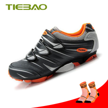 Tiebao cycling shoes outdoor MTB shoe indoor spinning self-locking bicycle men Breathable Mountain Bike Sneakers