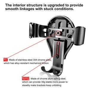 Image 4 - Baseus Soporte Universal para teléfono de coche Gravity, ventosa, parabrisas, para coche, iPhone 11 XS, Samsung