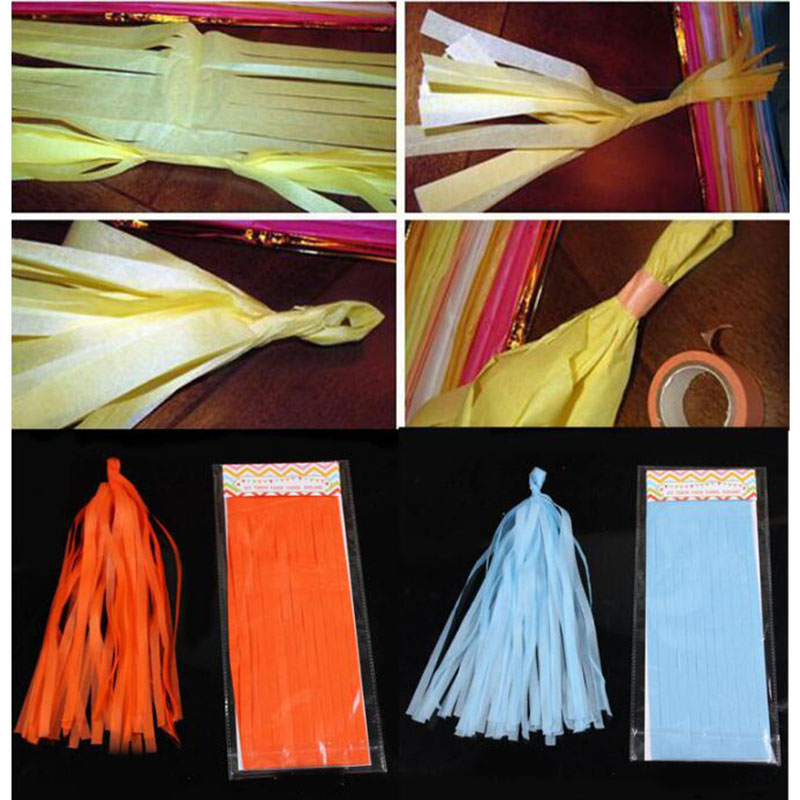 Paper Tassels Birthday Party Decoration Wedding Home Tissue Colorful Rainbow Engagement Accessoires 10bag lot Romantic Gift in Party DIY Decorations from Home Garden