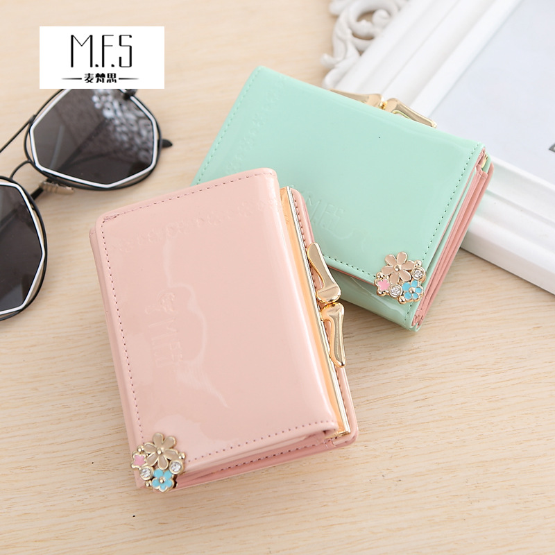 2018 Pu Women Casual Hasp Rushed Butterfly Knot, Ladies Full Wallet, Korean Fashion, Eighty Percent Off Leather Zero Wallet