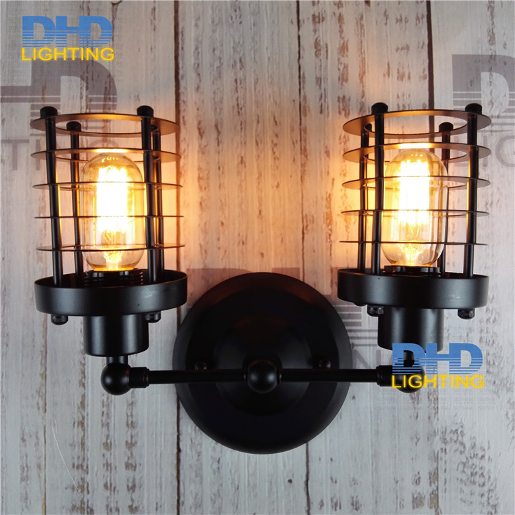 Free shipping Edison Vintage Loft Aisle Wall Lamp For two heads American Industrial edison Vintage Lamp up and down wall lamp rural style wall lamp vintage wall lamp edison wall light contains edison bulbs free shipping