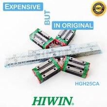 HIWIN Bloque de carro lineal para pieza cnc, guía lineal HGR25 Original, 300, 460, 500, 640, 820, 900, 1000, 1100, carril HGH25CA