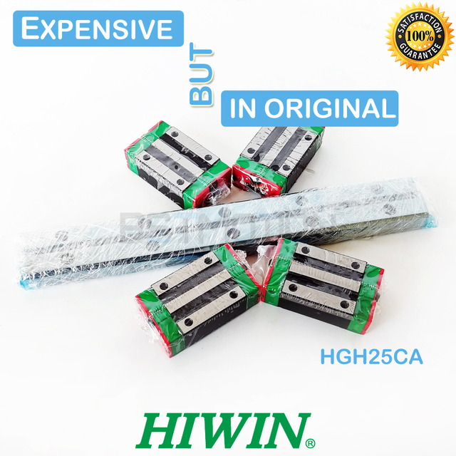 Original HIWIN HGR25 Linear Guide 300 460 500 640 820 900 1000mm 1100 1240 1500 rail HGH25CA Linear Carriage Block for cnc part