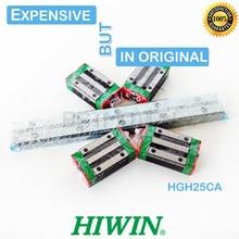 Orijinal HIWIN HGR25 lineer kılavuz 300 460 500 640 820 900 1000mm 1100 1240 1500 ray HGH25CA doğrusal taşıma blok cnc parçası