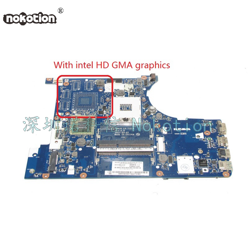 NOKOTION Laptop mainboard For Acer 3830 3830TG Motherboard MBRFN02002 P3MJ0 LA-7121P intel DDR3 Full Tested for lenovo laptop motherboard g570 piwg2 la 6753p hm65 ddr3 pga989 mainboard