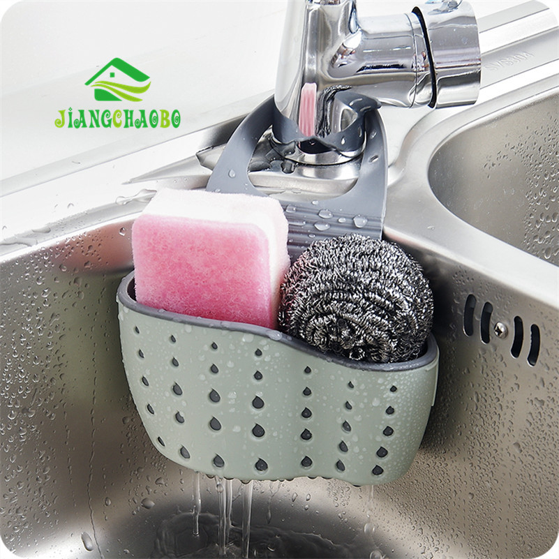 JiangChaoBo Useful Suction Cup Sink Shelf Soap Sponge Drain Rack Kitchen Sucker Storage Tool