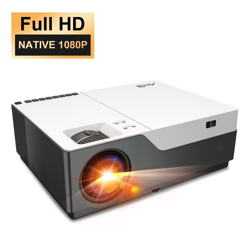 Artlii hd 1080 p projetor beamer nativo, projetor de vídeo led, projetor de cinema em casa, zoom, hdmi, apresentação do powerpoint
