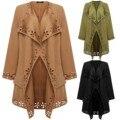 Новая коллекция весна Осенняя мода Вскользь женщин Пальто Шанца длинные Пиджаки свободная одежда для леди хорошего качества Верхняя Одежда Пальто Плюс