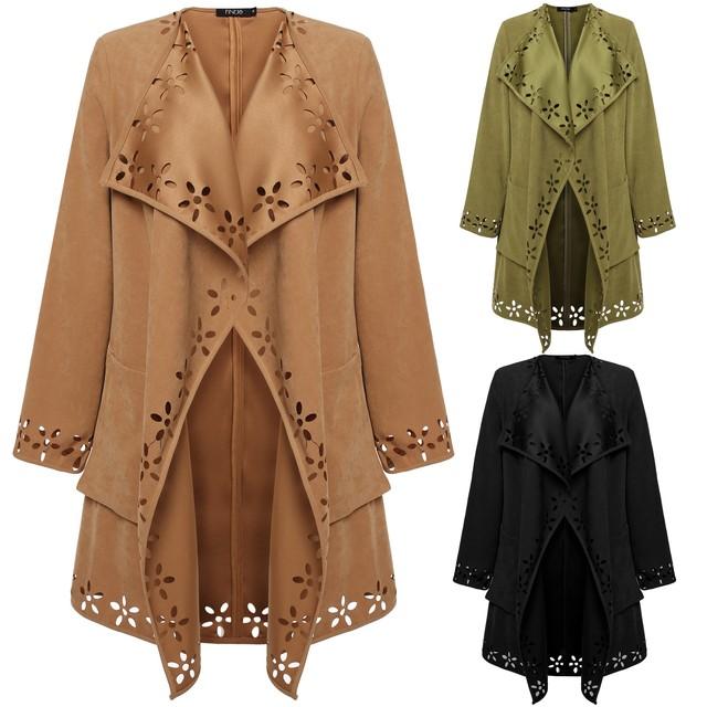 Nueva primavera Otoño moda Casual de las mujeres Gabardina larga Ropa de Abrigo ropa suelta para dama de buena calidad Abrigos Abrigo Plus