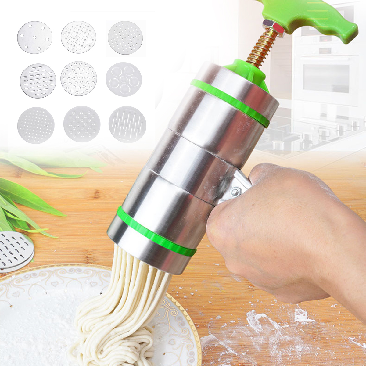 9 Mode Stainless Steel Pasta Noodle Maker Machine Handmade Noodles Press Spaghetti Machine Para Hacer Noodles Fruit Press 20 000 leagues under the sea student s book cd