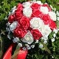 Hot Sale 24 pieces of rose flower 16 color Artificial Bride Hands Holding Rose Flower Wedding Bridal Bouquet buque de noiva