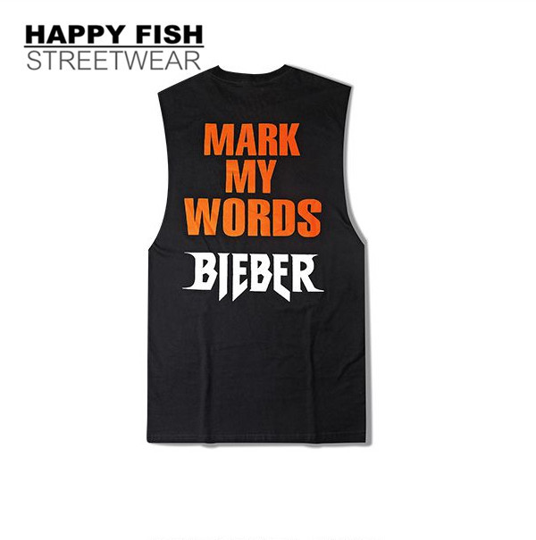 16ss PROVERGOD Tanque Mens Top Bieber Hip Hop Homem Sem Mangas Colete Moda Singlet Musculação T S-2XL