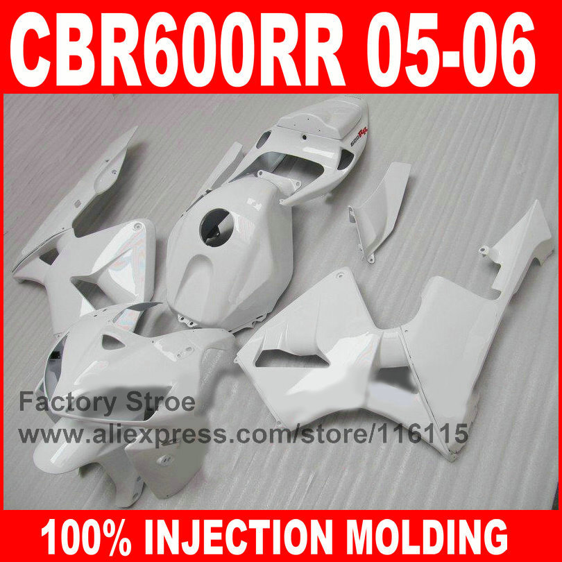 7gifts Injection ABS motorcycle fairings parts for 2005 2006 HONDA F5 CBR 600 RR CBR600RR 05 06 full white fairing bodywork kits arashi motorcycle parts radiator grille protective cover grill guard protector for 2003 2004 2005 2006 honda cbr600rr cbr 600 rr