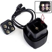 Imperméable à leau 18650 Lithium batterie Pack boîtier de rangement couverture avec USB DC double sortie 8.4V pour vélo lumière phare téléphone portable