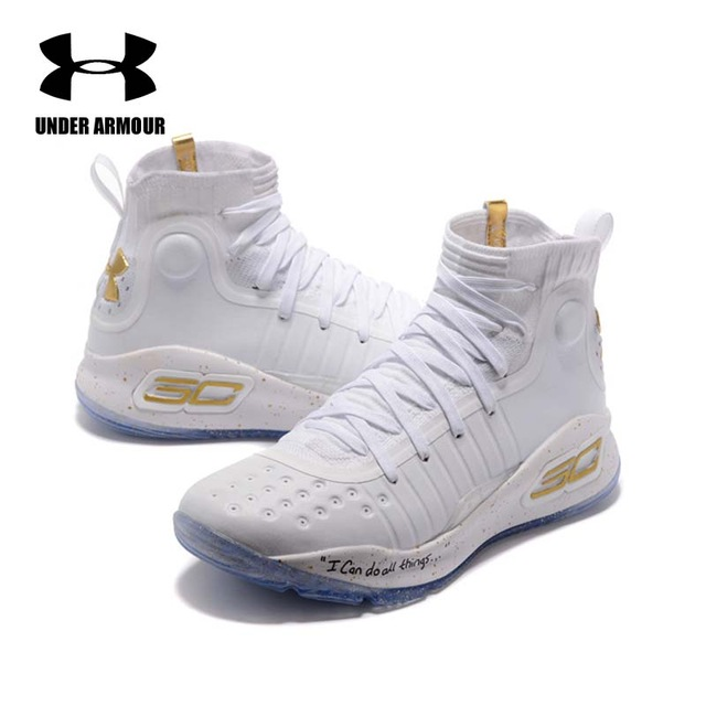 772fb796ecf543 Under Armour Men Curry 4 Basketball Shoes sock sneakers Training Boots  Zapatillas hombre deportiva stephen curry Shoes hot sale