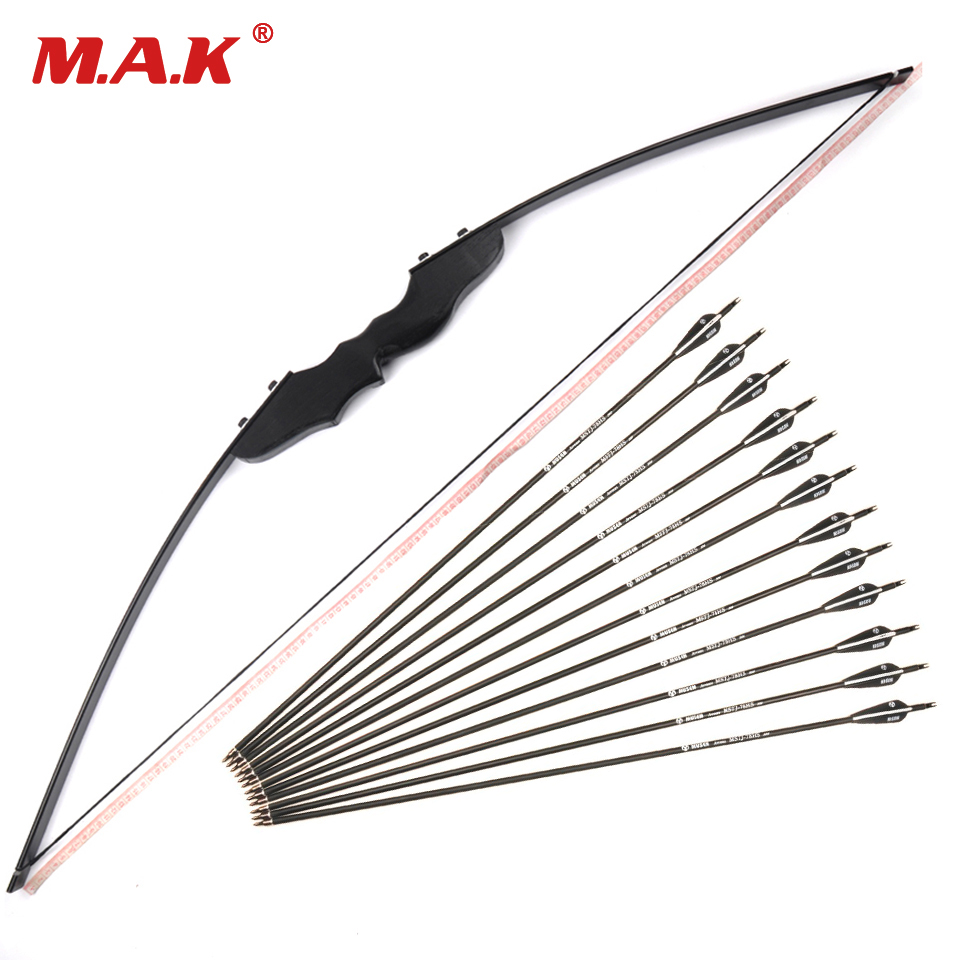30/40 Lbs Straight Bow Length 50 Inches and 3 Style 12 Pcs Arrow Suit the Bow for Archery Shooting Hunting 30 40 lbs straight bow length 50 inches for right handed archery bow shooting hunting game outdoor sports