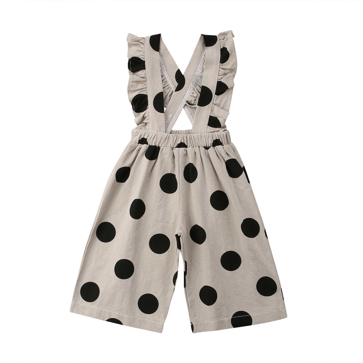 Kids Denim Overalls Baby Girls One Piece Ruffles   Rompers   Jumpsuit Autumn Summer Polka Dots Bib Pants Trousers