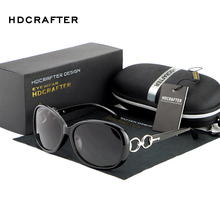 HDCRAFTER 2018 Women Coating Fashion Sun Glasses Female Vintage Metal Frame Polarized Sunglasses for Women gafas Oculos De Sol
